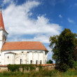 Saxon fortified medieval church in Beia, Transylvania, Romania — Stock Photo