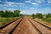 электрифицированная железная дорога — Стоковое фото