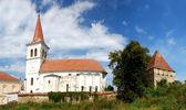 Saxon fortified medieval church in Beia, Transylvania, Romania — Stock Photo