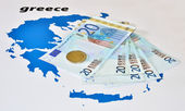 European help of Greece (euro zone crisis) — Stock Photo