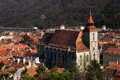 Black Church, Brasov landmark in Romania — Stok fotoğraf