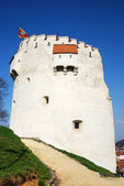 White Tower, in Brasov city, Romania — Stock fotografie
