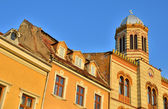 Byzantine medieval center with style church in Brasov city, Romania — Stock Photo