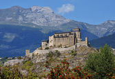 Sion castle of Valere fortified church, Switzerland — Stock Photo