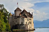 Chateau de Chillon (Castle of Chillon), on lake Geneve, Montreux — Stock Photo