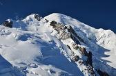 Mont Blanc, top of Europe, Alps mountains — Stock Photo
