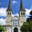 Hofkirche cathedral in Luzern, Switzerland — Stock Photo #8340356