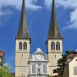Hofkirche cathedral in Luzern, Swizterland, the Church of St. Le — Stock Photo