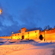 Citadel of Brasov in night, Romania landmark — Stock Photo