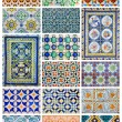 Azulejo different design collage from Lisbon, Portugal landmark — Stock Photo #9834834