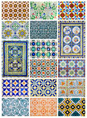 Azulejo different design collage from Lisbon, Portugal landmark — Stock Photo