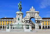 Praca do Comercio (Commerce Square) in Lisbon, Portugal — Stock Photo