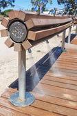 Outdoor shower for the feet after the beach. — 图库照片