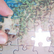 Royalty-Free Stock Photo: The last missing piece puzzle.