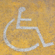 Parking sign for disable on road — Stok Fotoğraf #10635934
