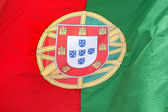 Portugese vlag in de wind. — Stockfoto