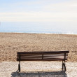 Bench on the beach. — Stock Photo