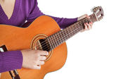 Musician playing the guitar. — Stock Photo