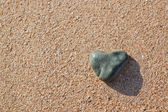 Stone in the shape of a heart — Stock Photo