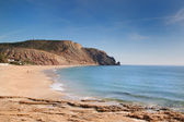 The beach on the rocky coast of Portugal. — Stock Photo