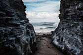 Seascape, view from the cave. — Stock Photo