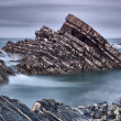 Stock Photo: Rocky reefs in sea