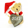 Bear wishing happy new year — Stock Photo