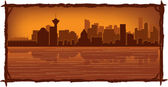 Vancouver skyline — Stock Vector