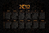 New Years calendar 2012 — Stock Vector