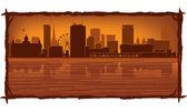 Birmingham England skyline — Cтоковый вектор
