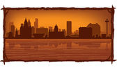 Liverpool England skyline — Stock Vector