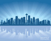 Seattle skyline — Stock Vector