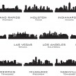 Silhouettes of the USA cities_2 — Stock Vector