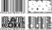 Barcode variaties — Stockvector
