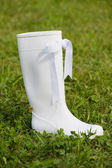 White rubber boot — Stock Photo