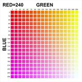 RGB Colors matrix — Stock Photo
