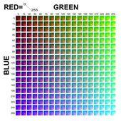 RGB Colors matrix — Stock Photo