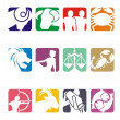Horoscope zodiac illustration - vector — Stock Vector #8814995