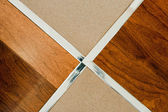 Wooden floor and tile — Stock Photo