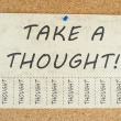 Stock Photo: Take a thought