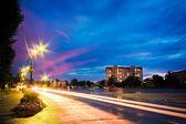 Semáforo de noche — Foto de Stock