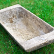 Old wooden trough — Stock Photo