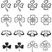 Leaves of clover — Vector de stock
