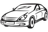 Contour of the automobile — Stock Vector