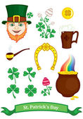Symbols of St. Patrick — Stock Vector