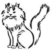 Fluffy cat — Stock Vector
