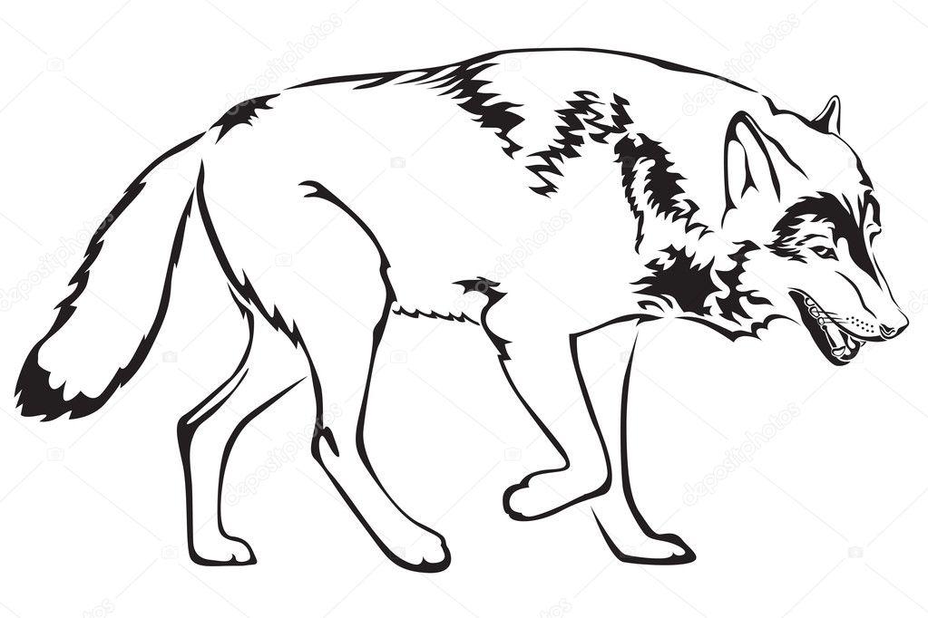 Нарисовать рисунок волк