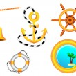 Nautical collection for design. - Stock Vector