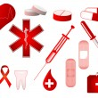 Medical icons collection — Image vectorielle