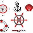 Nautical and adventure icons set for design - Stock Vector